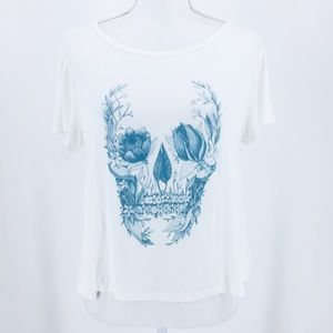 American Eagle Soft and Sexy Tee Floral Skull